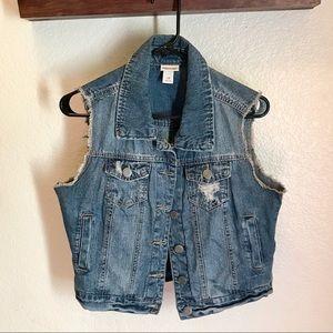 Women's jean vest